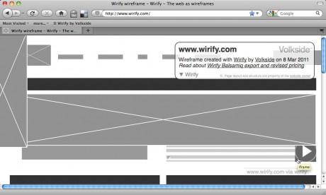 Wirify page elements and hover - Wirify user guide