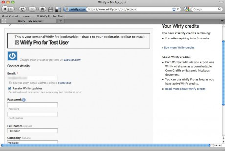 Wirify Manager - My Account - Wirify user guide