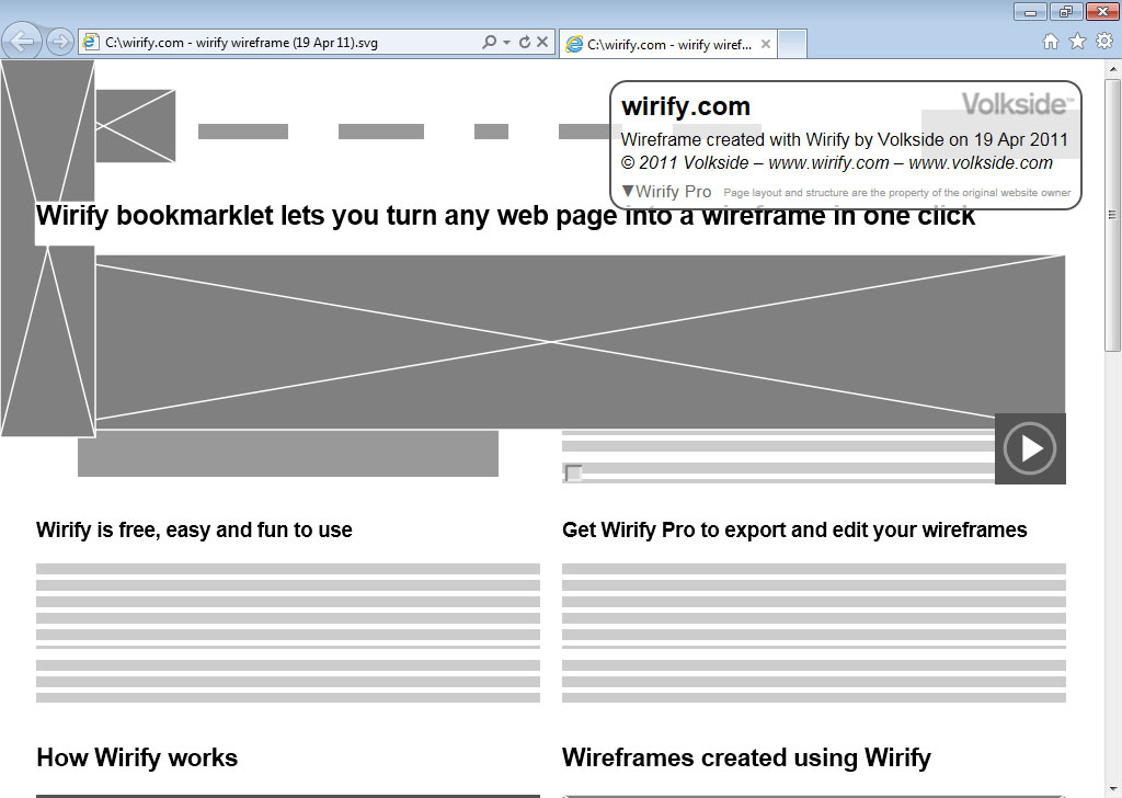 Export Your Wireframes To Visio And SVG Using Wirify Pro