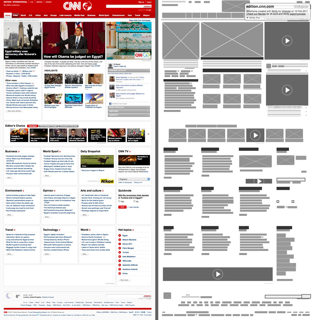 Wirify the web as wireframes - Website for home design ...
