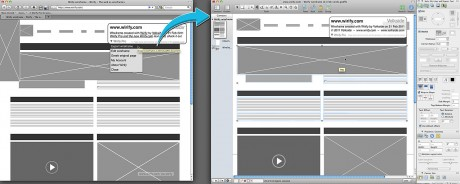Wirify Pro wireframe exported into OmniGraffle