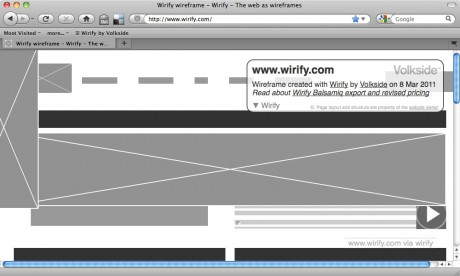 Wirifying a web page - Wirify user guide
