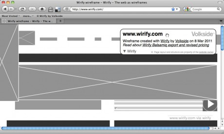 Moving the information overlay - Wirify user guide